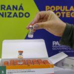 No Paraná, 57,2 mil pessoas já foram vacinadas contra a Covid-19. Pato Branco imunizou 2.921 pessoas