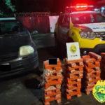 Veículo carregado de maconha é apreendido pela Polícia Militar na região Sudoeste
